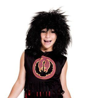 Child's Black 80's Rock Star Wig: Everything Else