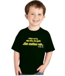 "One Liners STAR WARS THE EMPIRE STRIKES BACK ""JUDGE ME BY MY SIZE, DO YOU? SIZE MATTERS NOT."" MOVIE LINE TODDLER T SHIRT  All Colors Clothing"