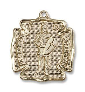 14kt Gold St. Florian Medal Patron Saint of (Patronage) Fireman, Fire Fighters, Against Battles, Against Fire, Austria, Barrel makers, Brewers, Chimney Sweeps, Coopers, Drowning, Fire Prevention, Firefighters, Floods, Harvests, Linz Austria, Poland, Soap b