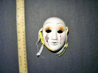 Ceramic Mini Mardi Gras Face Mask for Wall   201 B  Decorative Masks