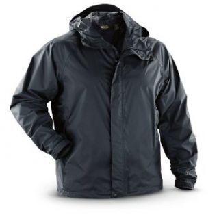 Guide Gear Packable Waterproof Rain Jacket, BLACK, M at  Men�s Clothing store Raincoats