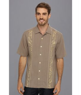 Tommy Bahama Path To Raj Camp Shirt Mens Short Sleeve Button Up (Taupe)