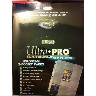 Ultra Pro 9 Pocket Trading Card Pages   Platinum Series (100 Pages)  Sports Related Display Cases  Sports & Outdoors