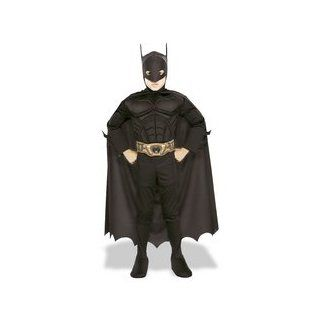 Batman Begins Deluxe Muscle Chest Costume: Boy's Size 4 6: Toys & Games