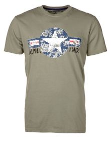 Alpha Industries USAF   T Shirt   olive