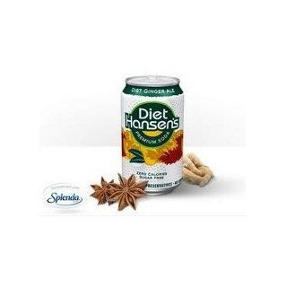 Hansen's Diet Ginger Ale (3x8x12 Oz) : Fruit Juices : Grocery & Gourmet Food