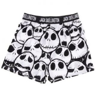 Jack Skellington Boxer Shorts for Men L: Clothing