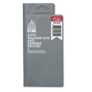 "Dome Publishing Company, Inc. Products   Expense/Auto Mileage Record Book, 160 Page, 3 1/2""x6 1/2"", Gray   Sold as 1 EA   Expense record book offers a pocket sized place to record your auto mileage and expenses for business trips. The format cont"