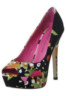 Ladystar by Daniela Katzenberger   KATHY 14   Peeptoe heels   black