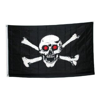 Jolly Roger With Red Eyes Pirate Flag: Toys & Games