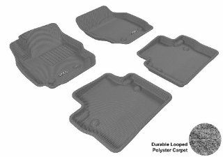 3D MAXpider Complete Set Custom Fit Floor Mat for Select Volvo S80 Models   Classic Carpet (Gray) Automotive