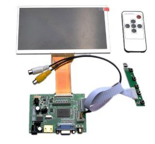 HDMI+2AV+VGA+Rear View Driver Board + 7inch AT070TN92 800*480 LCD Display+Remote (NO contain Touch screen) : Vehicle Amplifier Fuses : Car Electronics