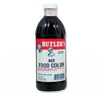 Butler's Best Red Food Coloring, Bottle, 16 fl oz : Grocery & Gourmet Food