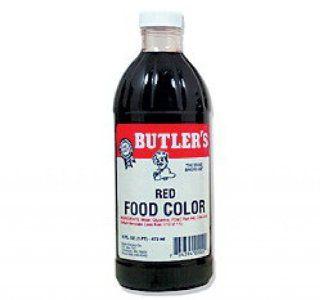 Butler's Best Red Food Coloring, Bottle, 16 fl oz : Grocery & Gourmet Food