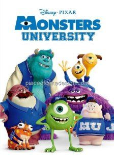 1/8 Sheet ~ Monster University Group Birthday ~ Edible Image Cake/Cupcake Topper  Dessert Decorating Cake Toppers  Grocery & Gourmet Food
