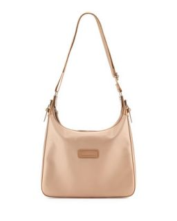 Derby Metallic Crossbody Bag, Platinum   Longchamp