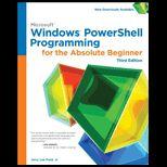 Microsoft Windows Powershell Programming