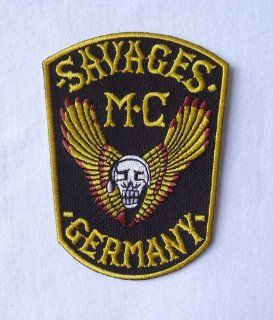 Outlaw Biker Savages Mc Germany Winged Skull Wings Motorcycle [3.75 Inches]patch Badge: Everything Else