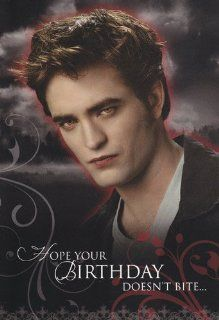 "Twilight   Eclipse Edward   Birthday Card "" Hope Your Birthday Doesn't Bite"": Health & Personal Care"