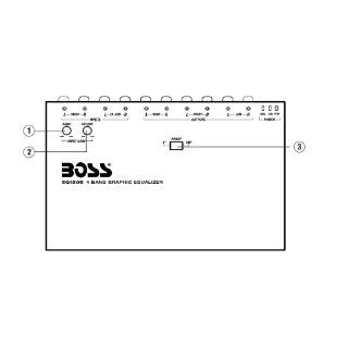 Boss EQ1208 4 Band Pre amp Equalizer with Subwoofer Output, Master Volume Control  Vehicle Equalizers