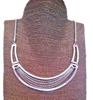 Chunky Silver Effect Tribal Collar Necklace with Chain Design: Premier Designs Jewelry: Jewelry