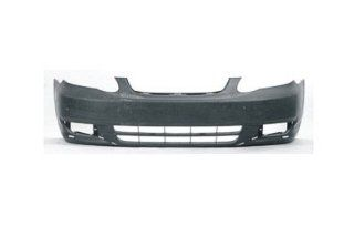 2004 Toyota Corolla Front Bumper Painted 1C3 Gray Mica, Without Ground Effects, Except S model Automotive