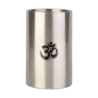 Om Aum Namaste Yoga Symbol Wine Chiller by Bluedarkartgifts