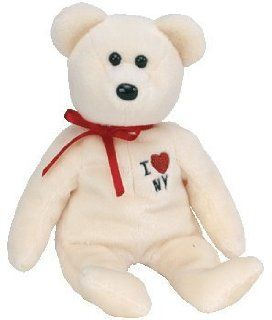 TY Beanie Baby   NEW YORK the Bear (I love N.Y.   Show Exclusive) (Given only to retailers at NY Toy Far) Toys & Games