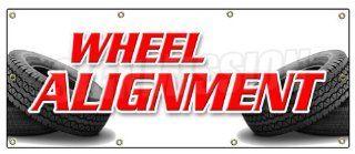 "36""x96"" WHEEL ALIGNMENT BANNER SIGN tire fix repair align auto repair  Yard Signs  Patio, Lawn & Garden"