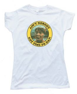 Womens AIN'T NOBODY GOT TIME FO DAT   MS BROWN   Tee Shirt Anvil Softstyle: Clothing
