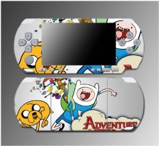 Adventure Time Finn Fionna Jake Marceline Cartoon Movie Video Game Vinyl Decal Sticker Cover Skin Protector for Sony PSP Slim 3000 3001 3002 3003 3004 Playstation Portable Video Games
