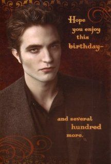 "Twilight New Moon Birthday Card ""Hope you enjoy this birthday  and several hundred more"".: Health & Personal Care"