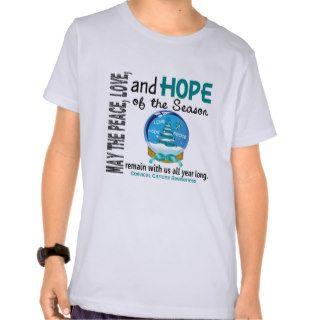 Christmas Holiday Snow Globe 1 Cervical Cancer Tee Shirts