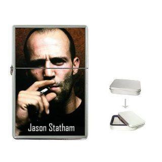 New Product Smoking Jason Statham Flip Top Cigarette Lighter + free Case Box Sports & Outdoors