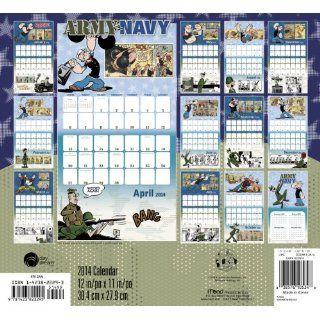 2014 Army vs Navy / Popeye vs Beetle Bailey Wall Calendar Mead Products LLC 9781423822295 Books