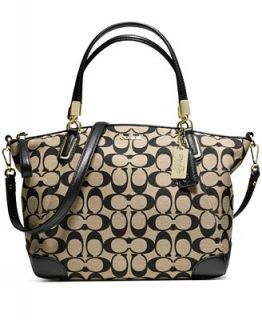 COACH MADISON SMALL KELSEY SATCHEL IN PRINTED SIGNATURE FABRIC   COACH   Handbags & Accessories
