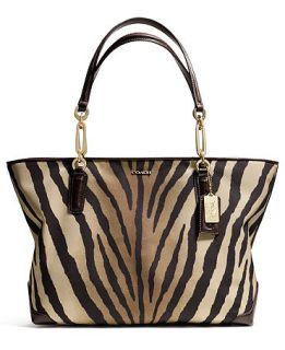 COACH MADISON EAST/WEST TOTE IN ZEBRA PRINT FABRIC   COACH   Handbags & Accessories