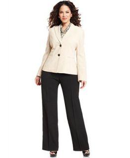 Le Suit Plus Size Suit, Blazer, Printed Scarf & Trousers   Suits & Separates   Plus Sizes