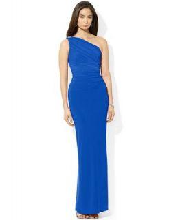 Lauren Ralph Lauren Dress, One Shoulder Jersey Gown   Dresses   Women