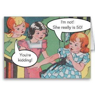 Funny Vintage Retro Cartoon Comic Birthday Cards