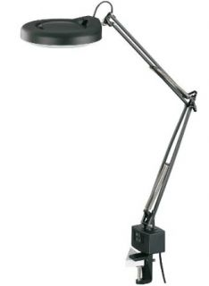 Lite Source LSM 197BLK Desk Lamp with Black Metal Shades, Black Finish   Desk Lamps
