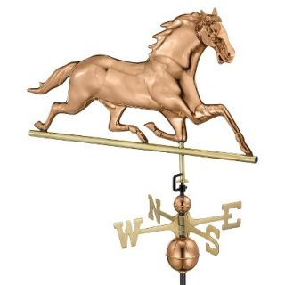 Good Directions Horse Weathervane   Polished Copper