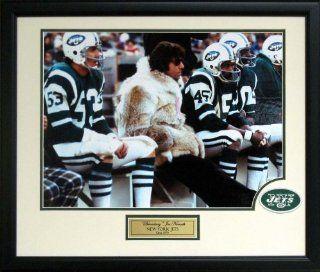 """Broadway"" Joe Namath Framed Fur Coat Photograph Collage"