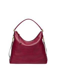 Gucci Miss GG Leather Hobo Bag, Raspberry