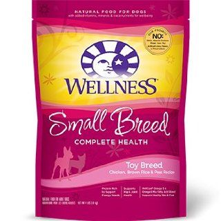WELLPET 76344891215 Wellness Small Breed Complete Health Dry Dog Food Bag for Toy breed, 4 Pound  Dry Pet Food