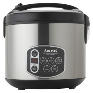 Aroma Digital Rice Cooker   Stainless Steel (20 cups)