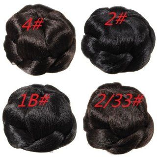 Women Stylish Wedding Chignon Clip In Updo Bun Hair Extension    No.2# : Hair Styling Products : Beauty