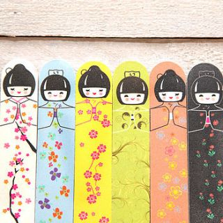 japanese kokeshi doll emery board by red berry apple