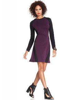 W118 by Walter Baker Dress, Long Sleeve High Neck Colorblocked   Dresses   Women