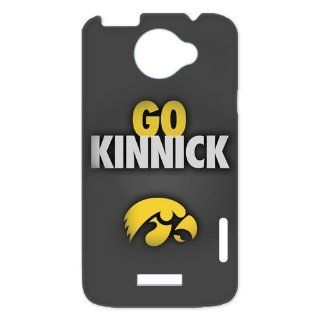NCAA Iowa Hawkeyes GO KINNICK Logo Unique Durable Hard Plastic Case Cover for HTC One X + Custom Design UniqueDIY: Cell Phones & Accessories